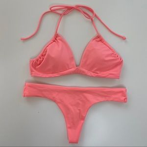 Victoria's Secret Peach Bikini Set